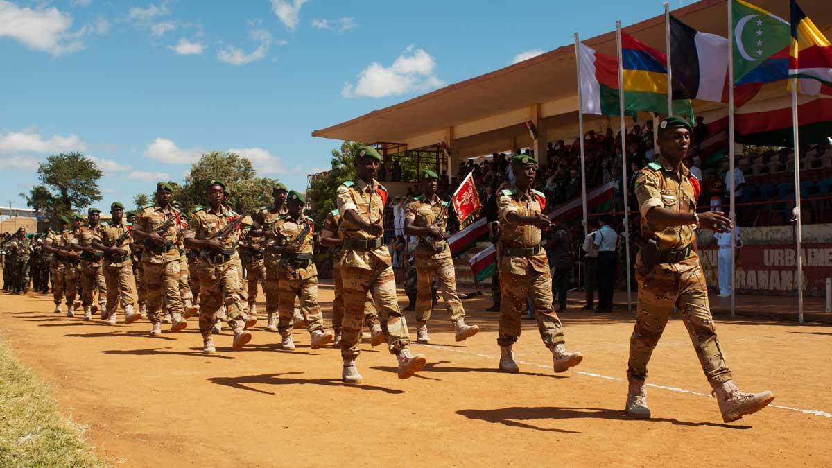 L'exercice DIANA 2015 a été clôturé par une défilé militaire au stade d'Antsiranana