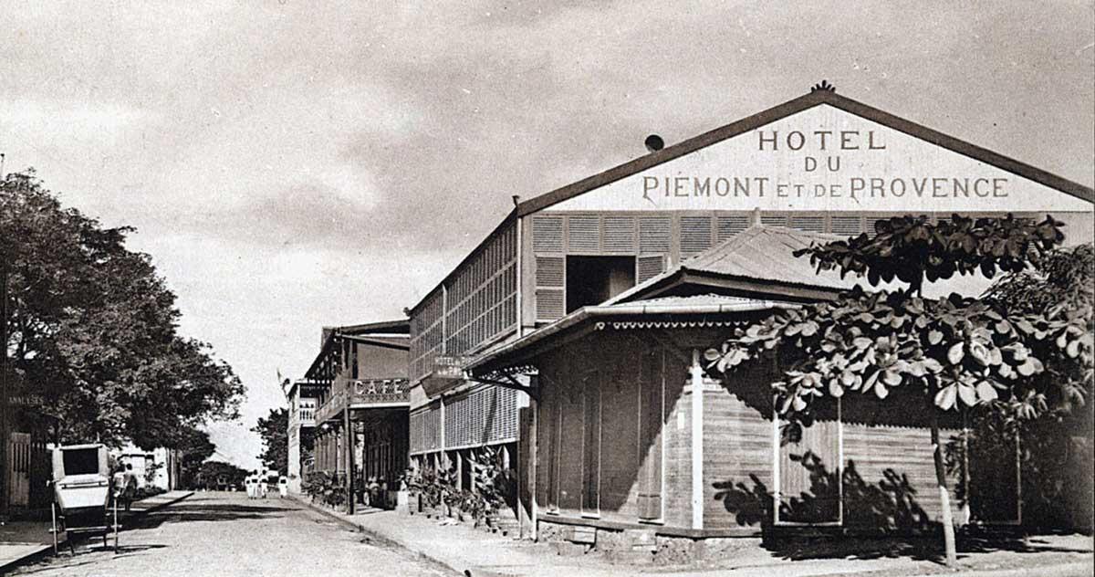 L'Hôtel du Piémont, rue Flacourt à Diego Suarez