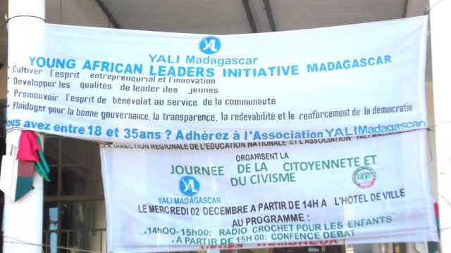 La seconde édition de la journée du civisme et de la citoyenneté est le fruit de la collaboration entre la Direction Régionale de la Population, de la Protection Sociale et de la Promotion de la Femme ainsi que de l'association YALI (Young African Leaders Initiative) Madagascar